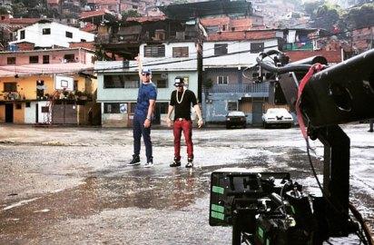 Yandel y el Potro graban video clip en baririo de Petare.